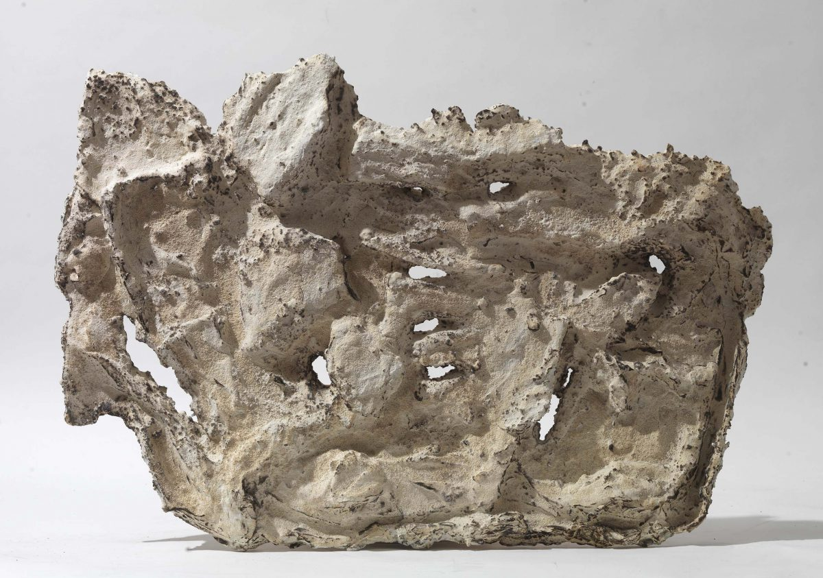 Mixed Media: burned white cement- marble  -resins. Dimensions 60X45
