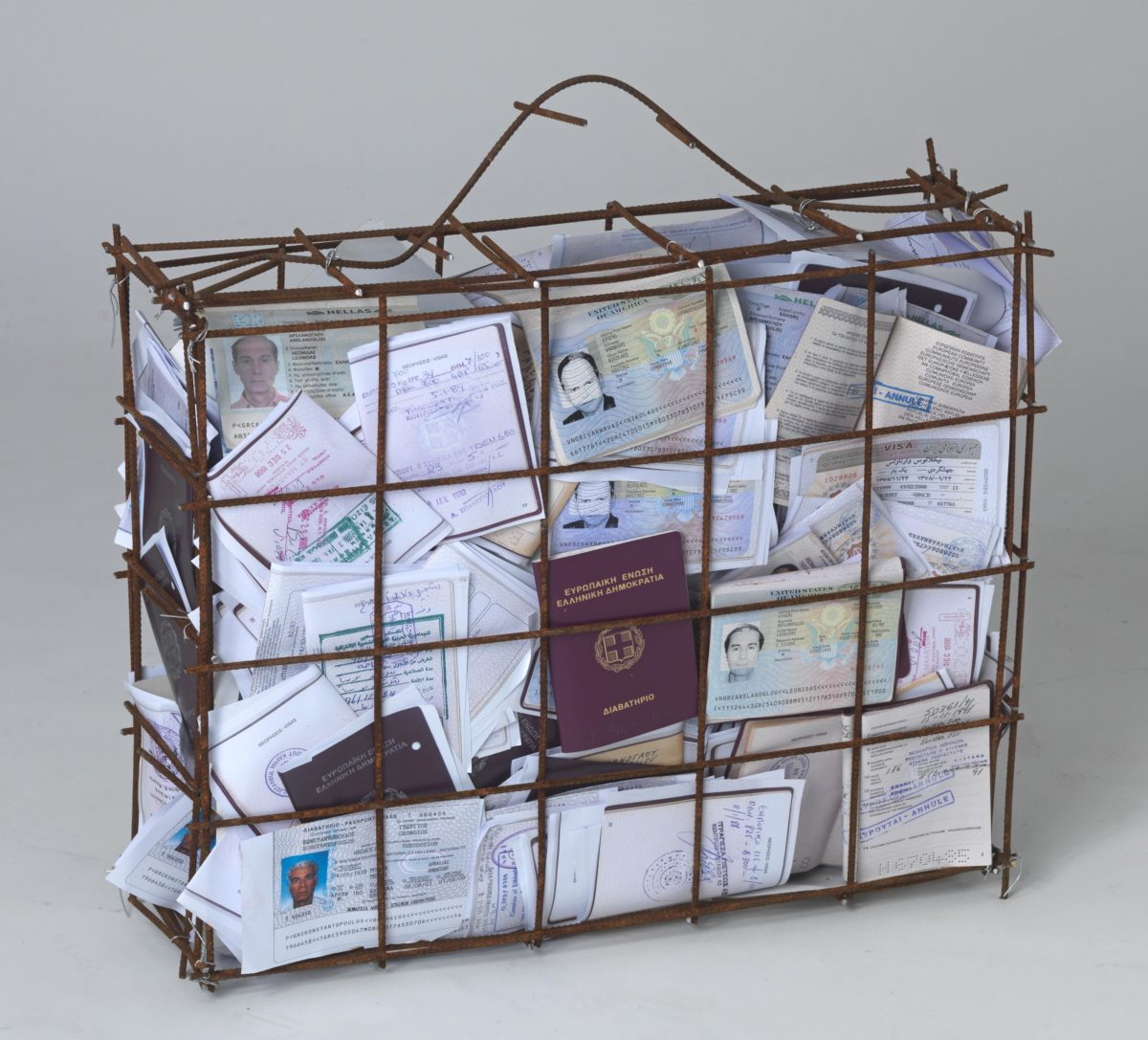 iron and passport documents.Dimensions 44x50x15