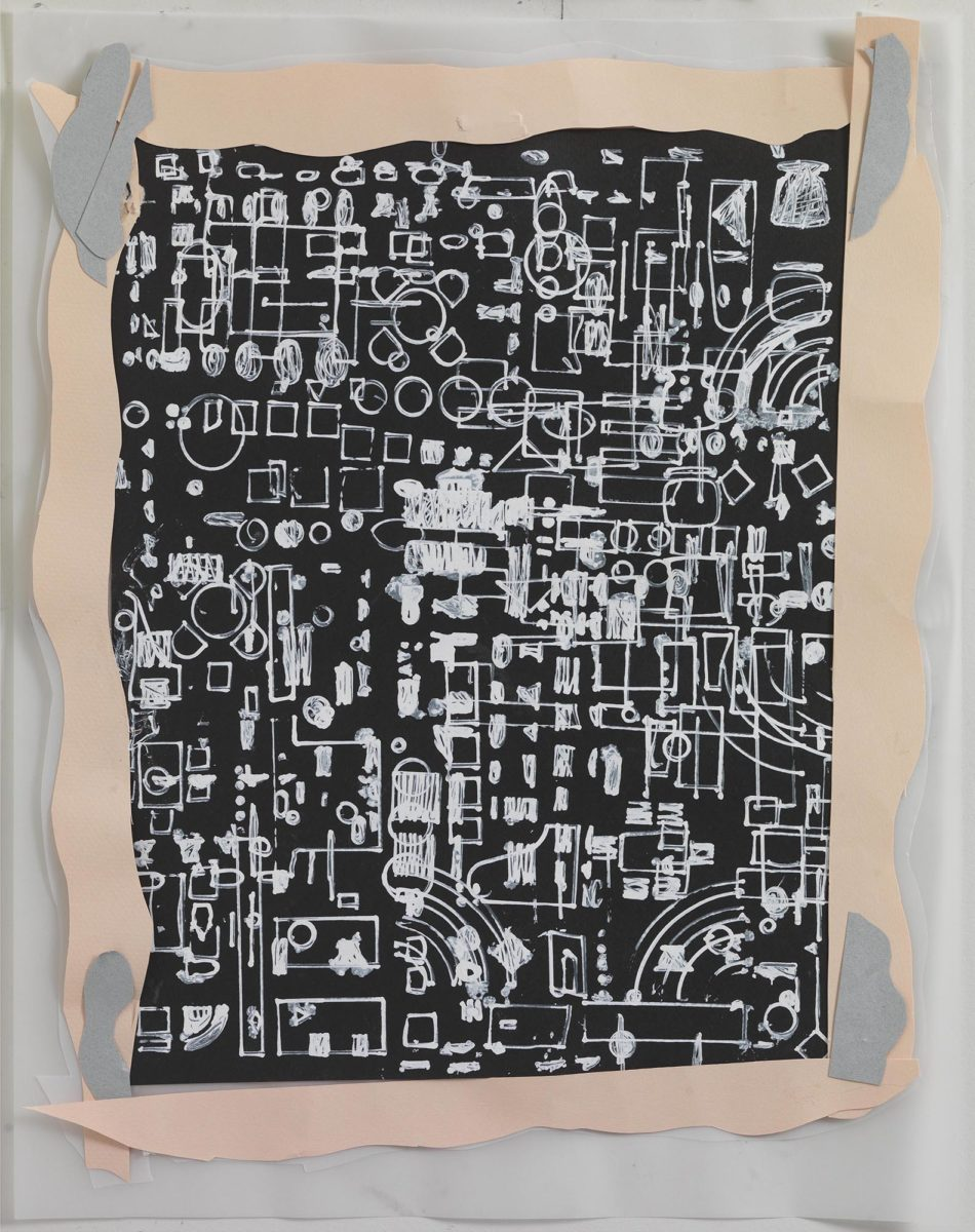 Mixed media on paper. Chinese ink and collage on rice paper and plastic. Dimensions 44,5x34.Year 2017