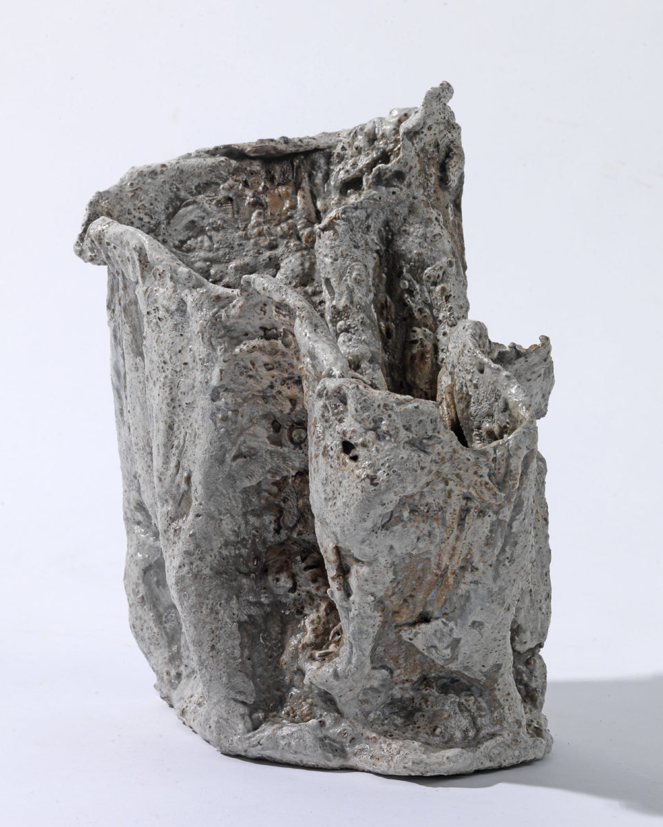 Mixed Media: burned  grey and white cement -resins and pigments.Dimensions 22X17