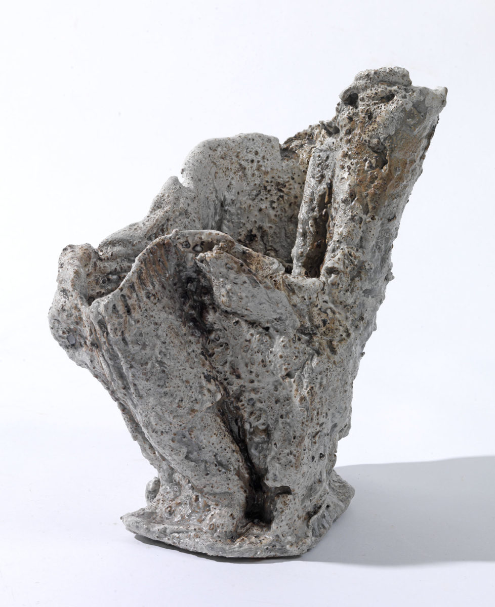 Mixed Media: burned  grey and white cement -resins and pigments.Dimensions 21X16