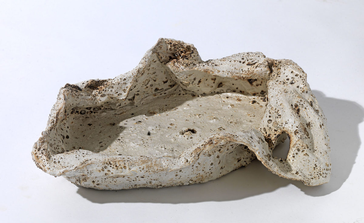 Mixed Media: burned  grey and white cement -resins.Dimensions 26X19