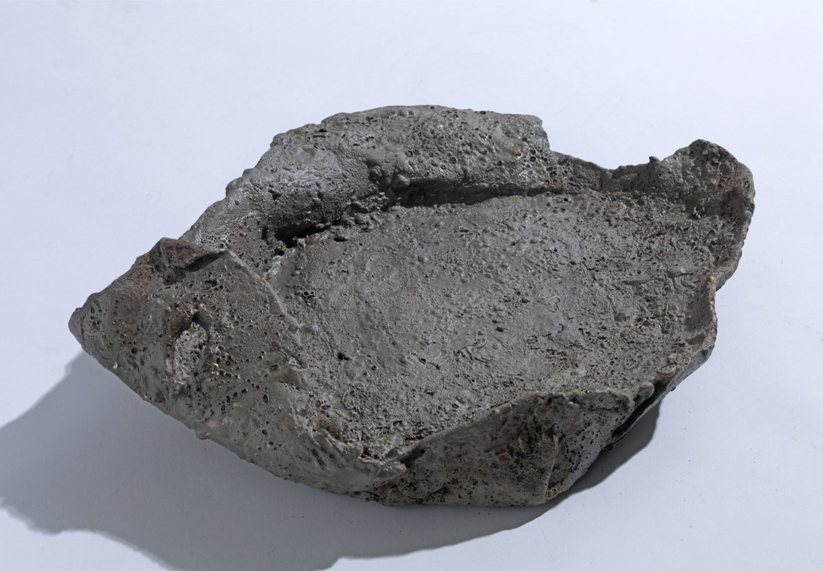 Mixed Media: burned  grey and white cement -resins.Dimensions 25X18