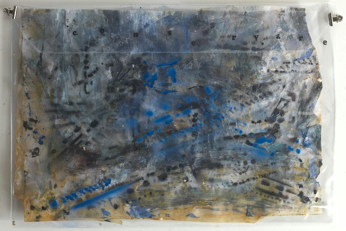 Acrylic painting on plastic and rice paper.Dimensions37x50